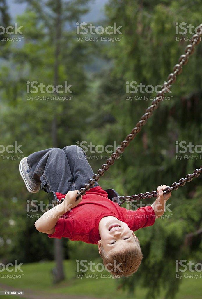 Boy on Playground royalty-free stock photo