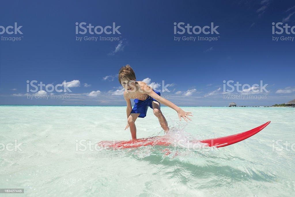boy on surfboard royalty-free stock photo