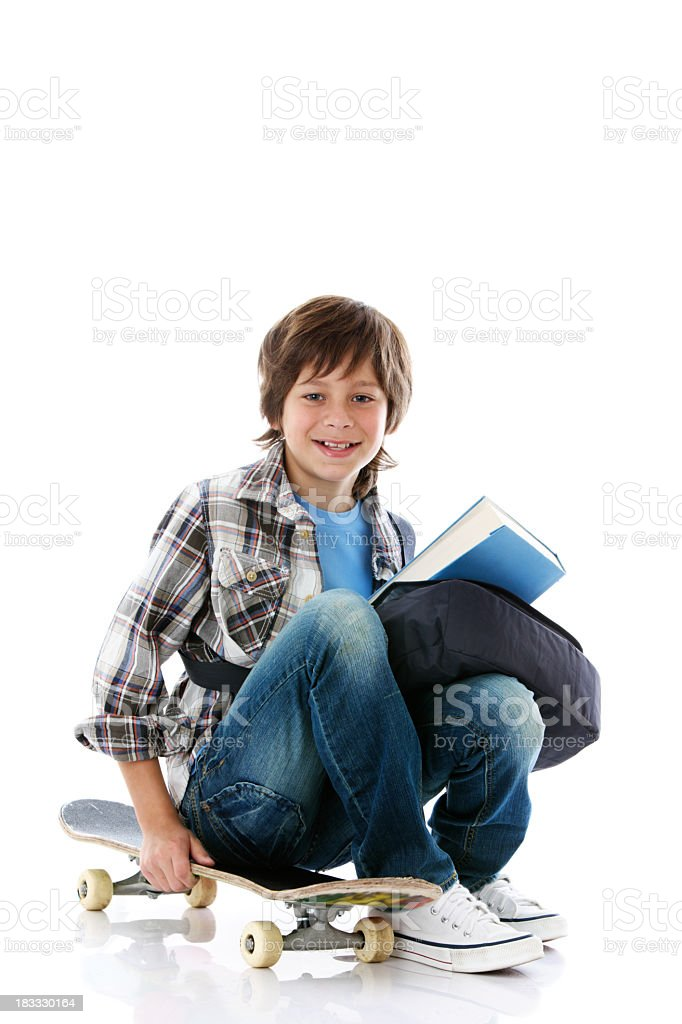 Boy on white background royalty-free stock photo