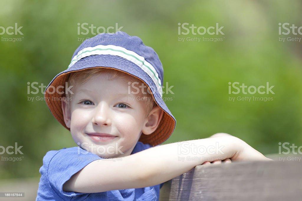 boy outside royalty-free stock photo