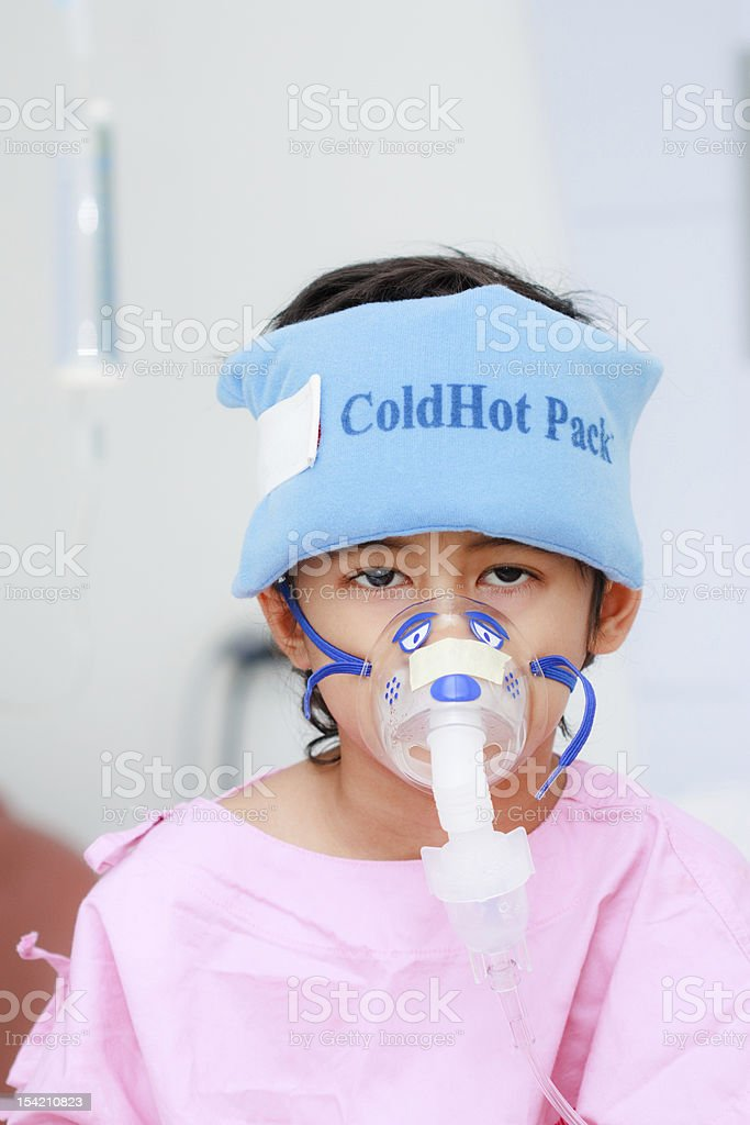 Boy patient in hospital royalty-free stock photo