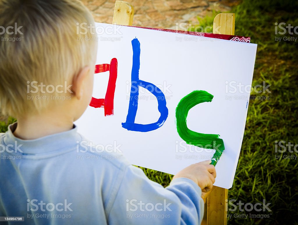 ABC boy royalty-free stock photo