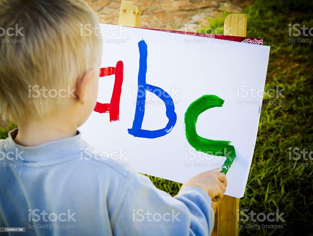 ABC boy stock photo