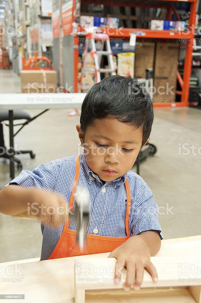 DIY boy royalty-free stock photo