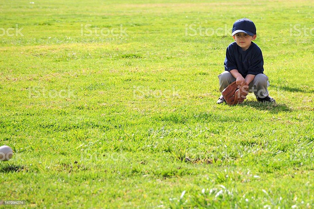 Boy playing baseball royalty-free stock photo