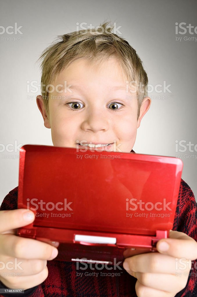 Boy playing games. royalty-free stock photo