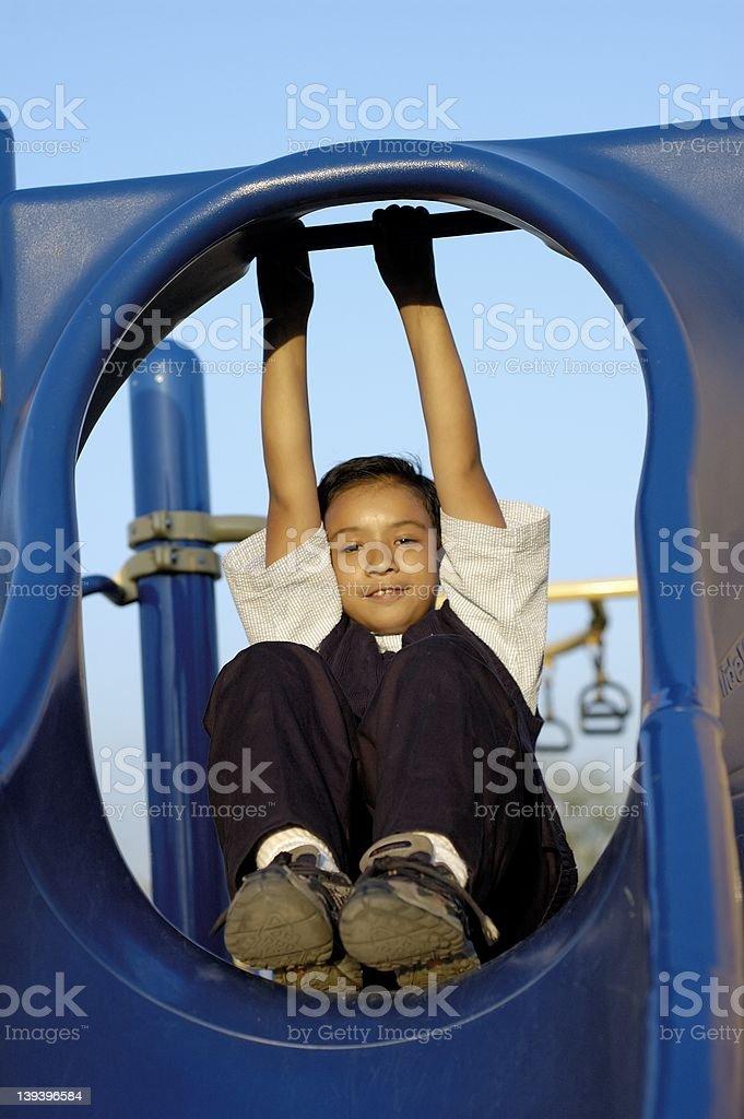 Boy playing I royalty-free stock photo