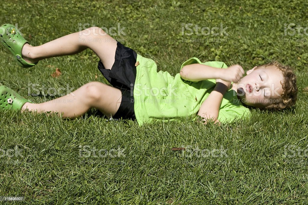 Boy playing royalty-free stock photo
