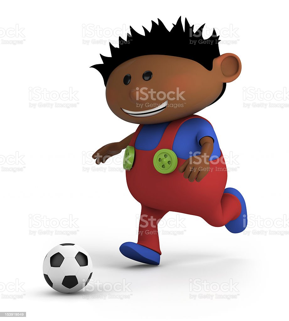 boy playing soccer royalty-free stock photo