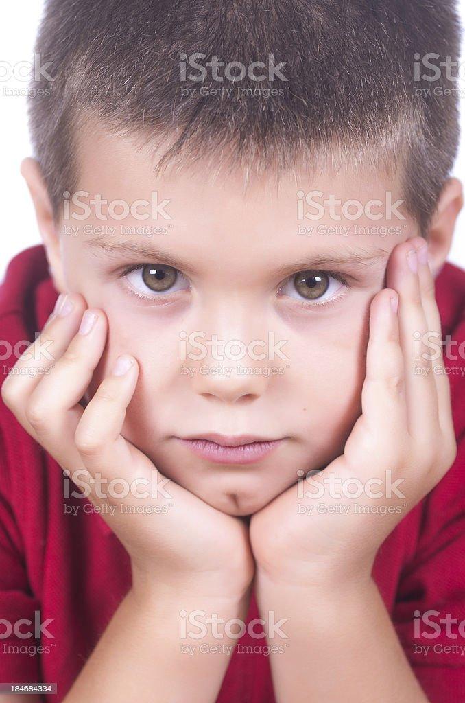 boy posing royalty-free stock photo