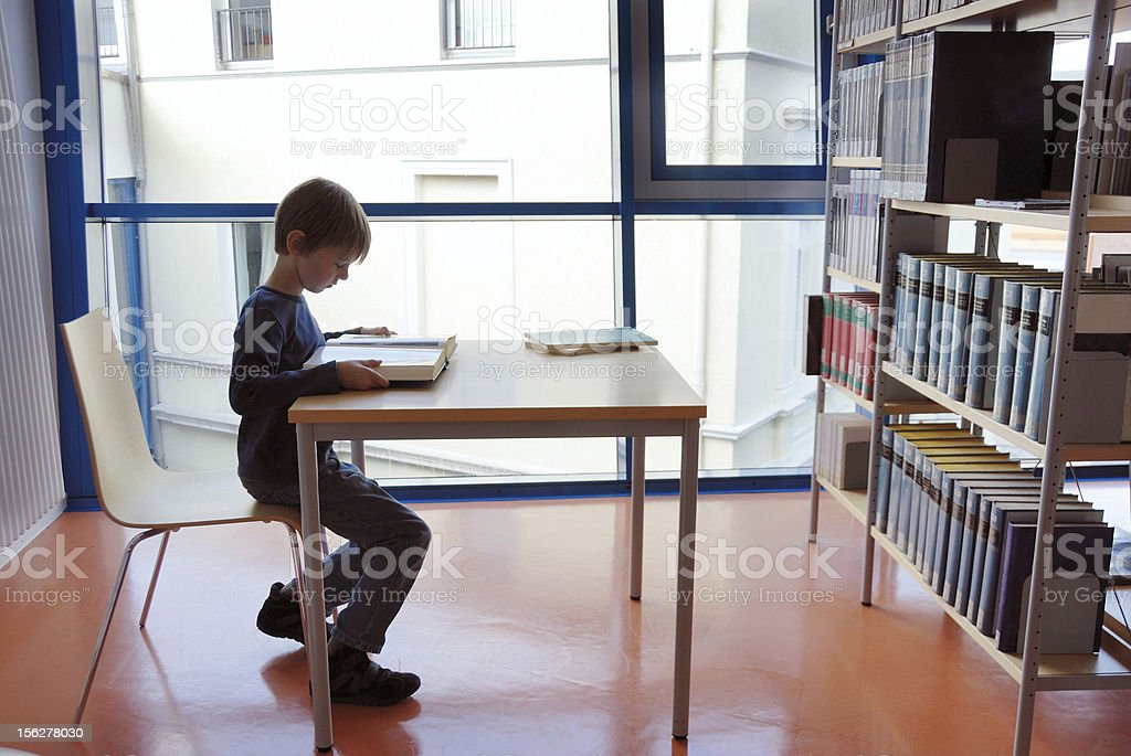 boy, reading royalty-free stock photo