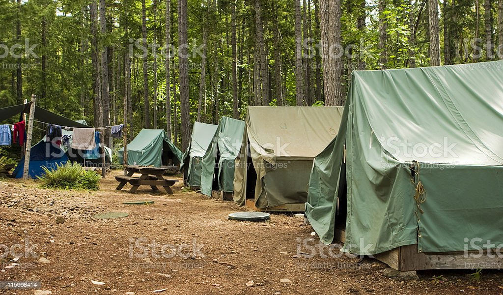 Boy Scout Campground stock photo