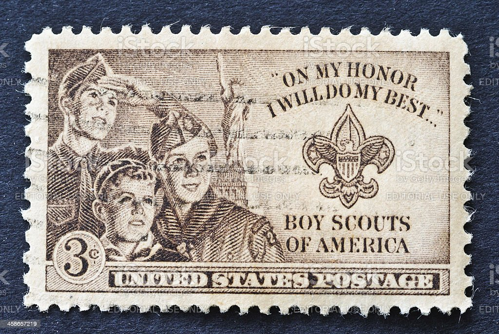 Boy Scouts Stamp royalty-free stock photo