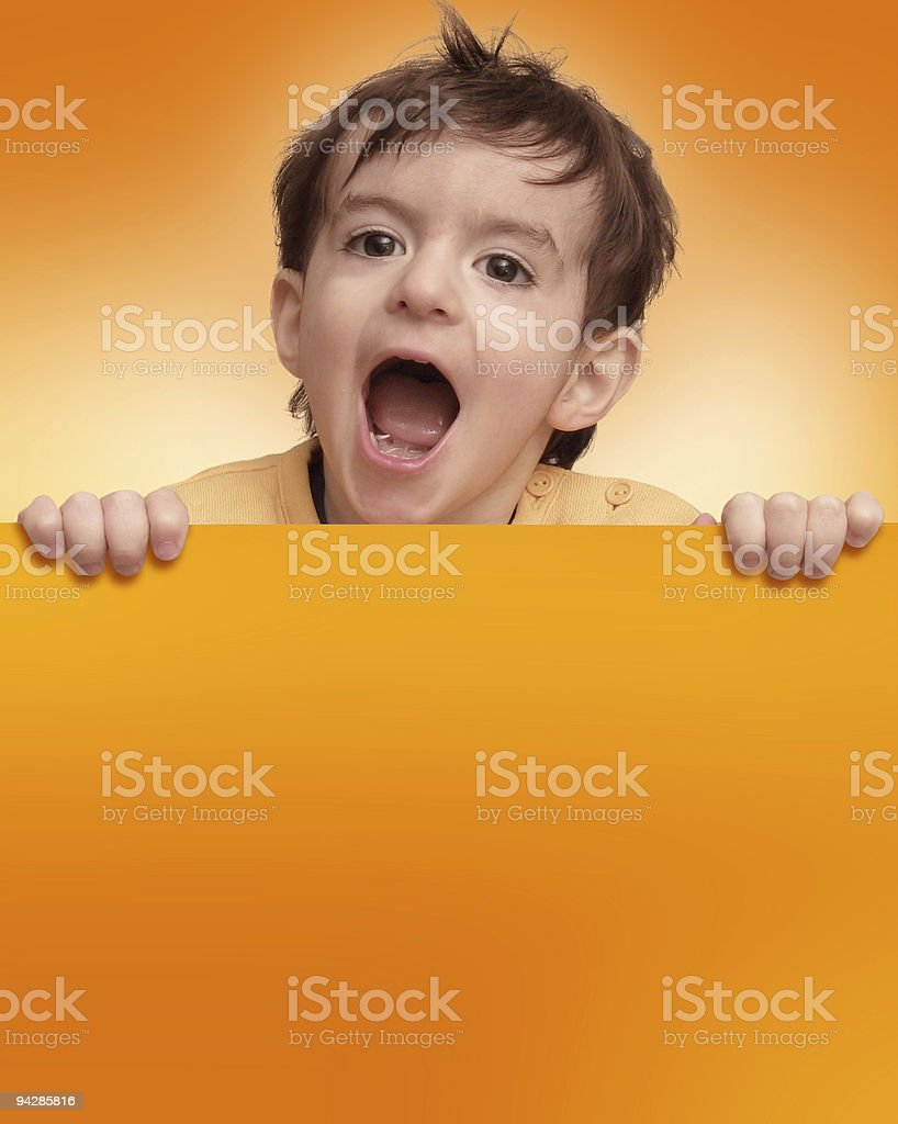Boy shouting royalty-free stock photo