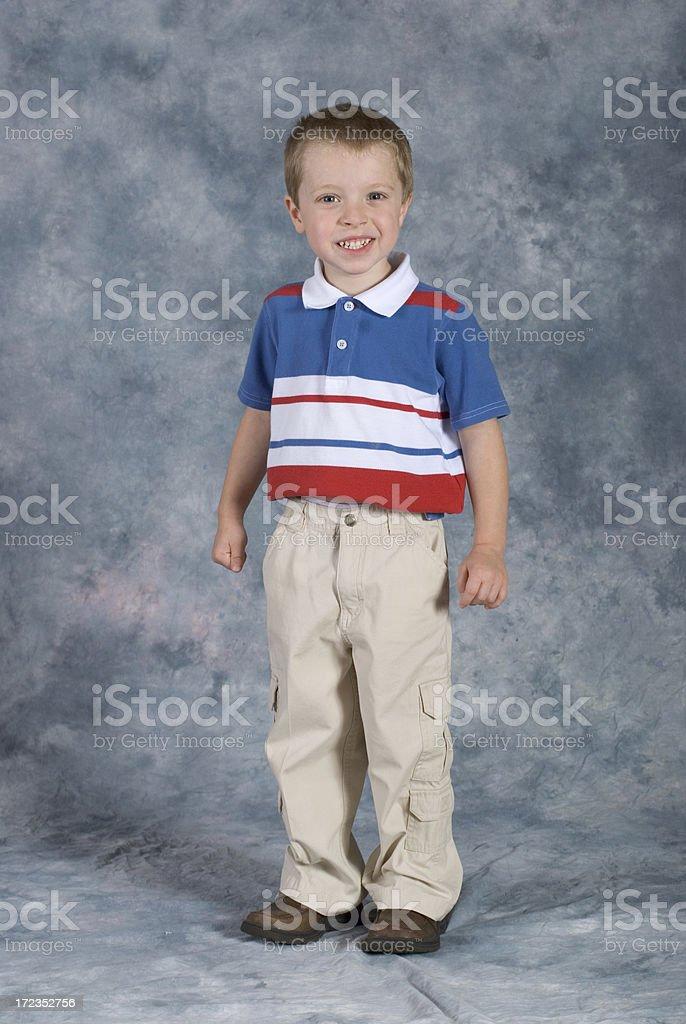 Boy Standing School Pose. royalty-free stock photo