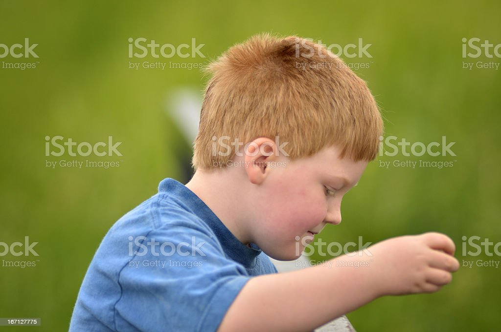 Boy Studies Gravity royalty-free stock photo