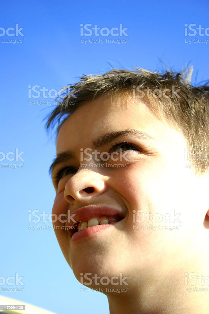 Boy Sun royalty-free stock photo