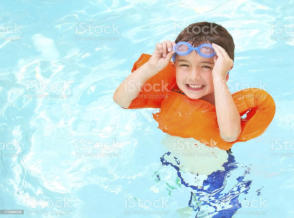 Boy Swimming royalty-free stock photo