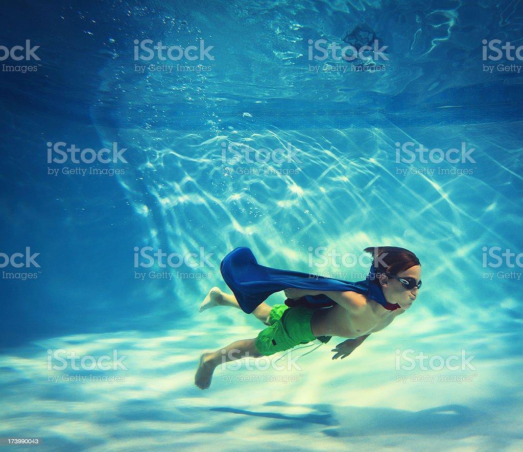 boy swimming underwater royalty-free stock photo
