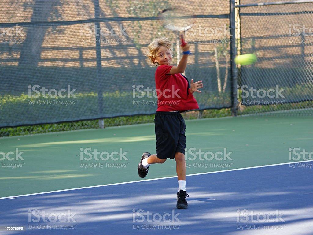 Boy Tennis Player royalty-free stock photo
