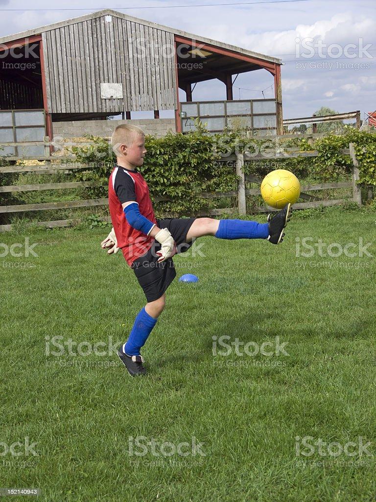 Boy training stock photo