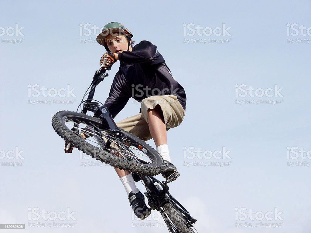 BMX Boy up close royalty-free stock photo