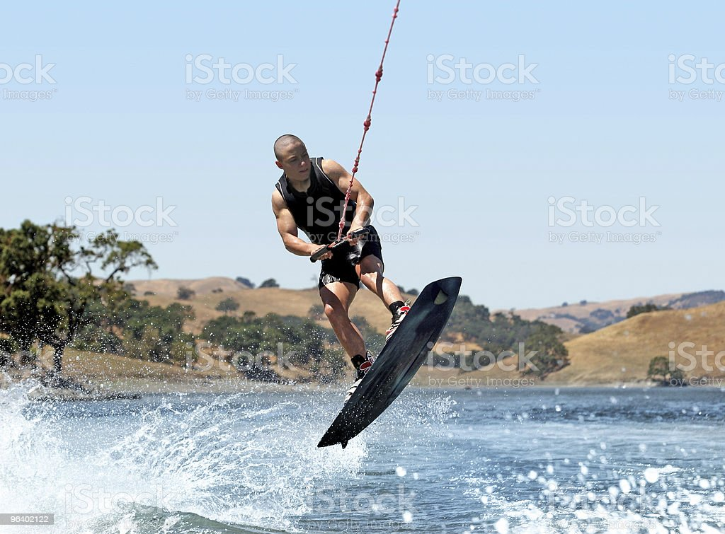 Boy Wakeboarding royalty-free stock photo