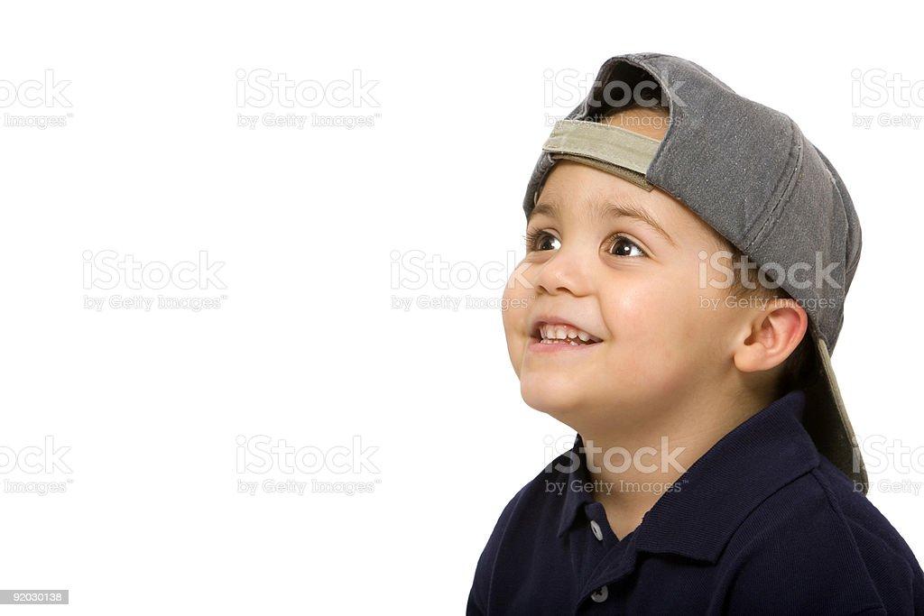 Boy wearing cap royalty-free stock photo