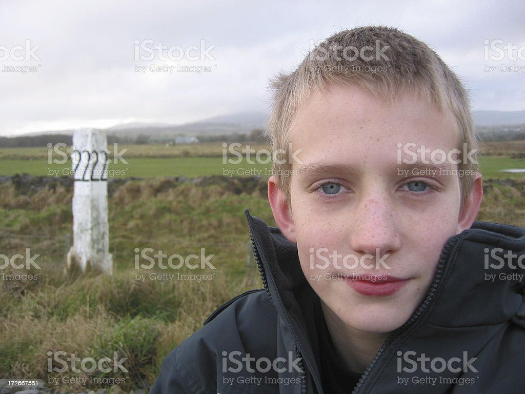 Boy with 22 royalty-free stock photo