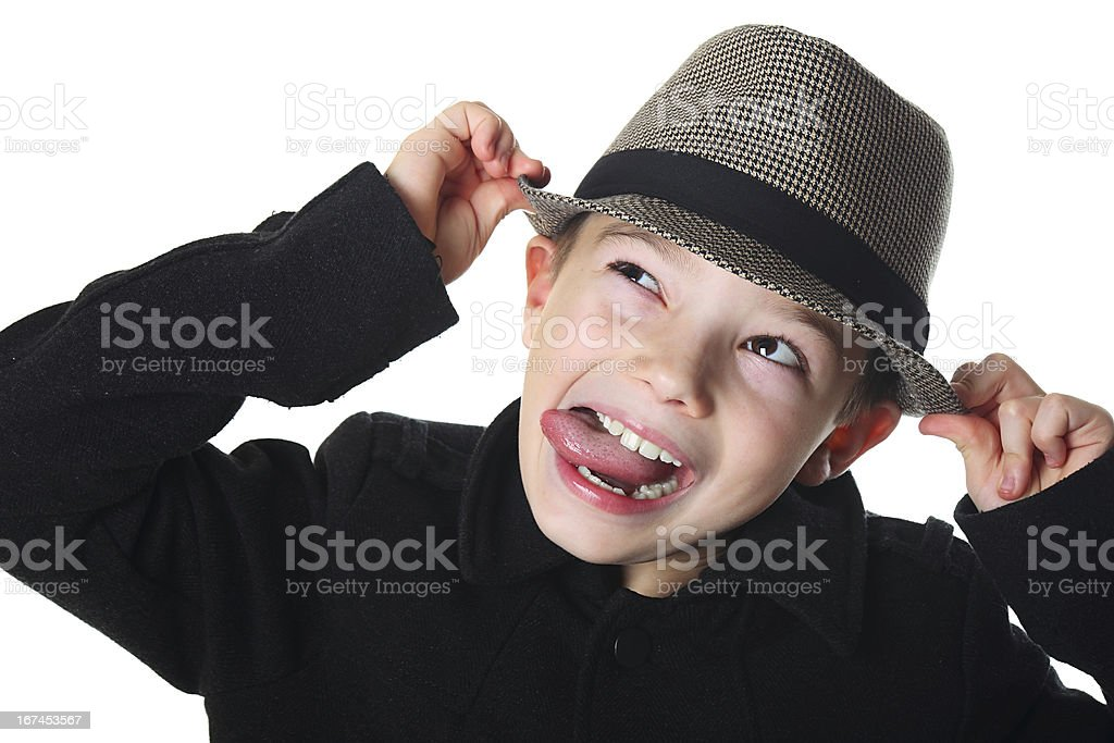 Boy with a hat royalty-free stock photo