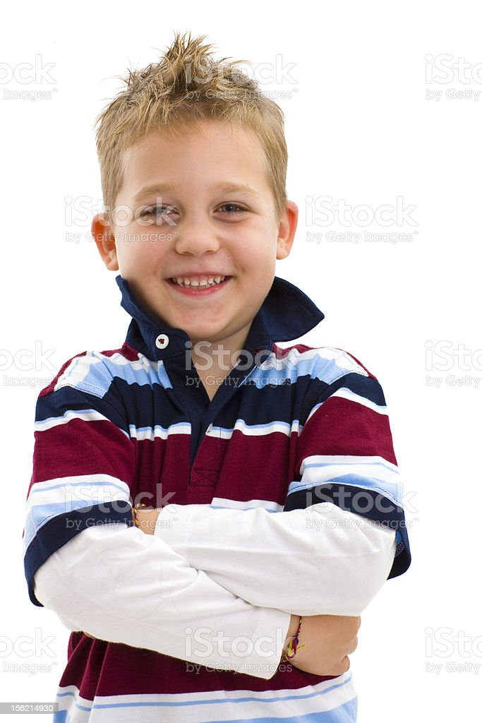 Boy with arms crossed royalty-free stock photo