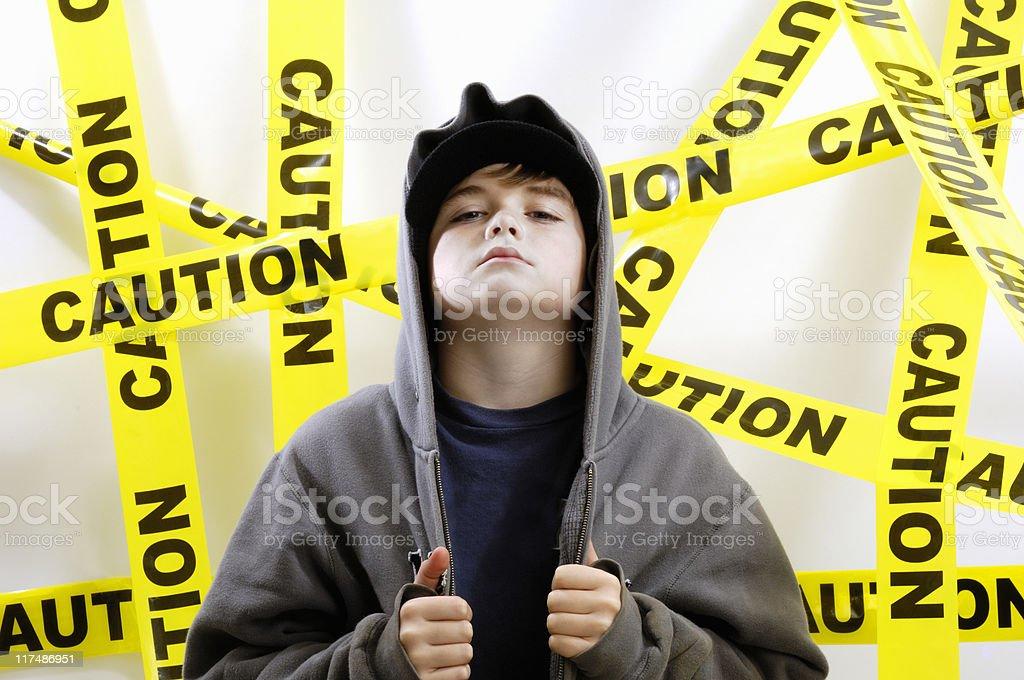 Boy with attitude royalty-free stock photo