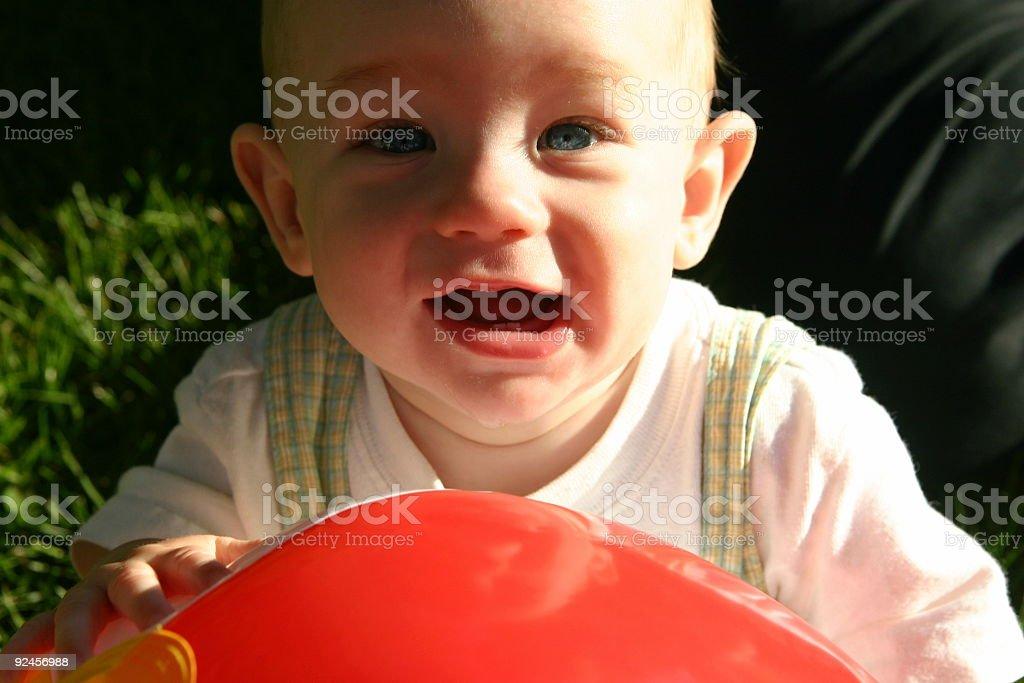Boy with Beach Ball #2 royalty-free stock photo
