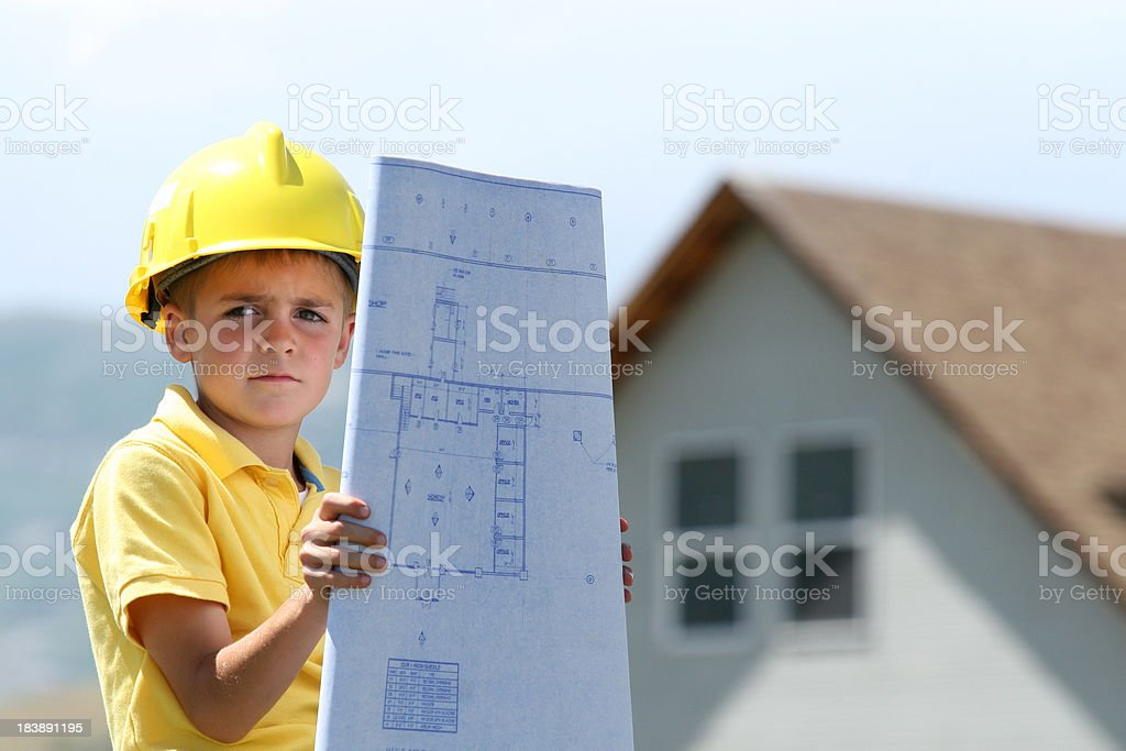 Boy with Big Plans royalty-free stock photo