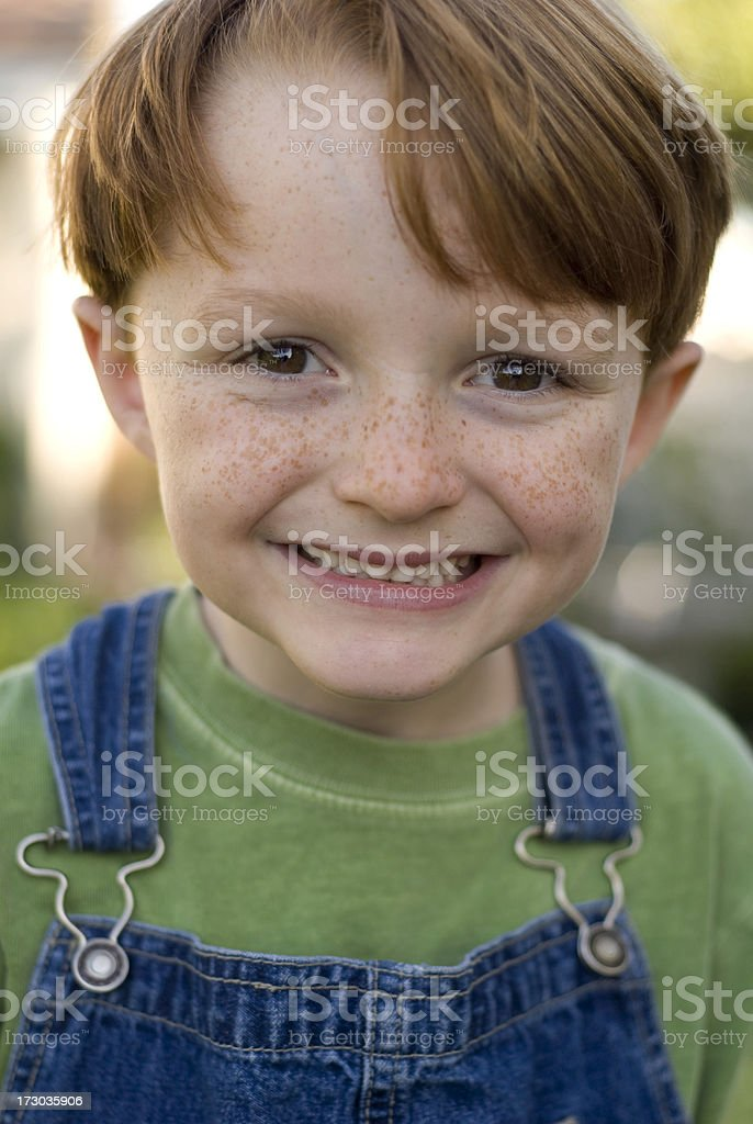 Boy with Big Smile royalty-free stock photo