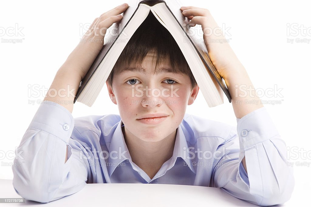 boy with book royalty-free stock photo