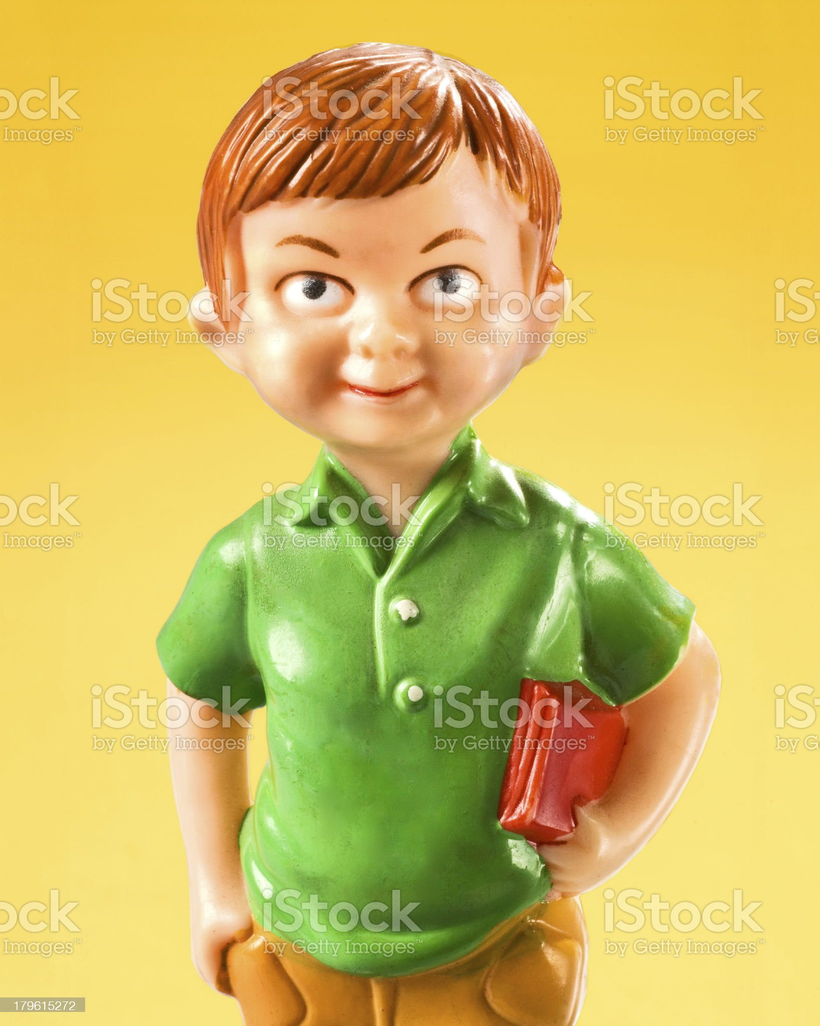 Boy With Book Under His Arm royalty-free stock photo