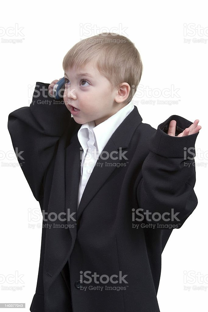boy with cellphone royalty-free stock photo