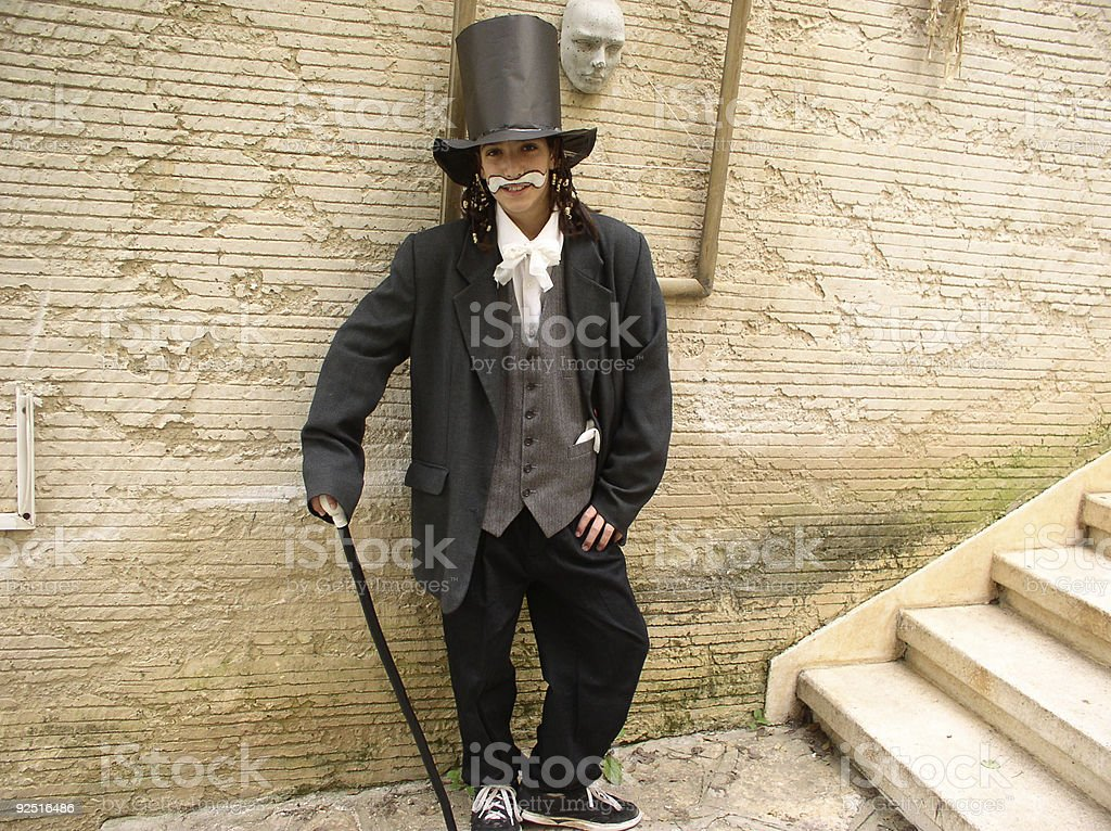 Boy with costum royalty-free stock photo