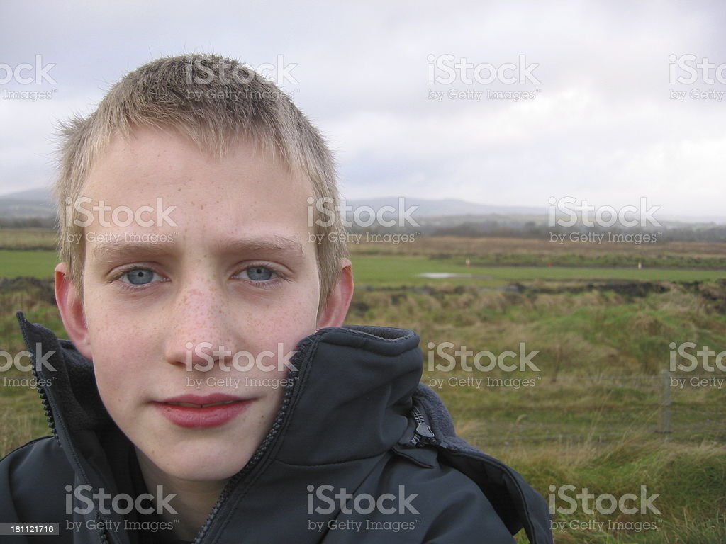 Boy With Crystal Blue Eyes royalty-free stock photo