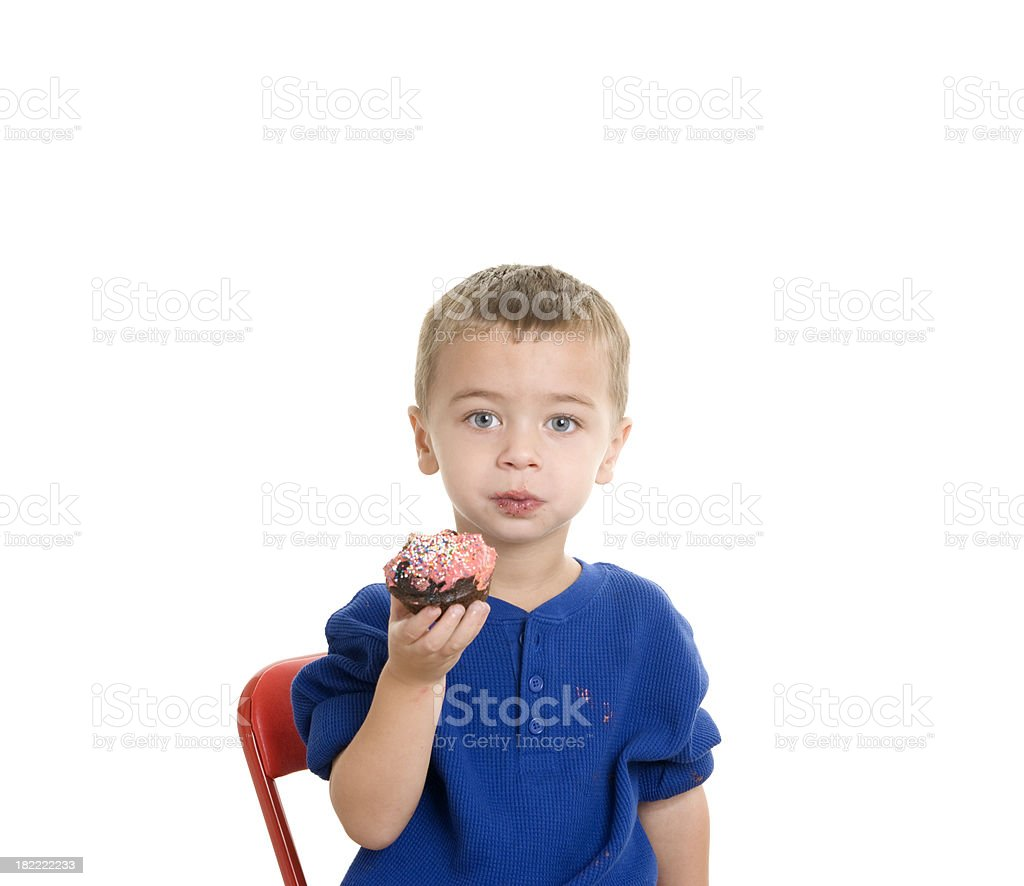 Boy with Cupcake royalty-free stock photo