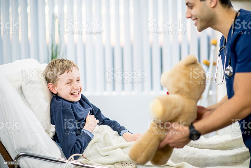 Boy with Developmental Disability stock photo