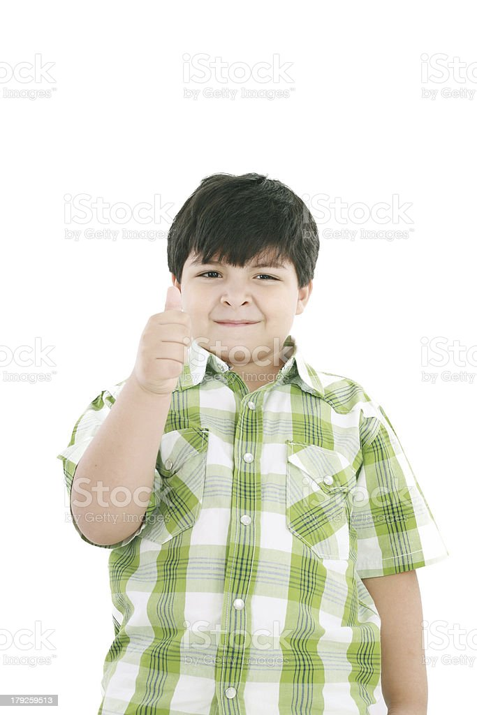 boy with finger up royalty-free stock photo