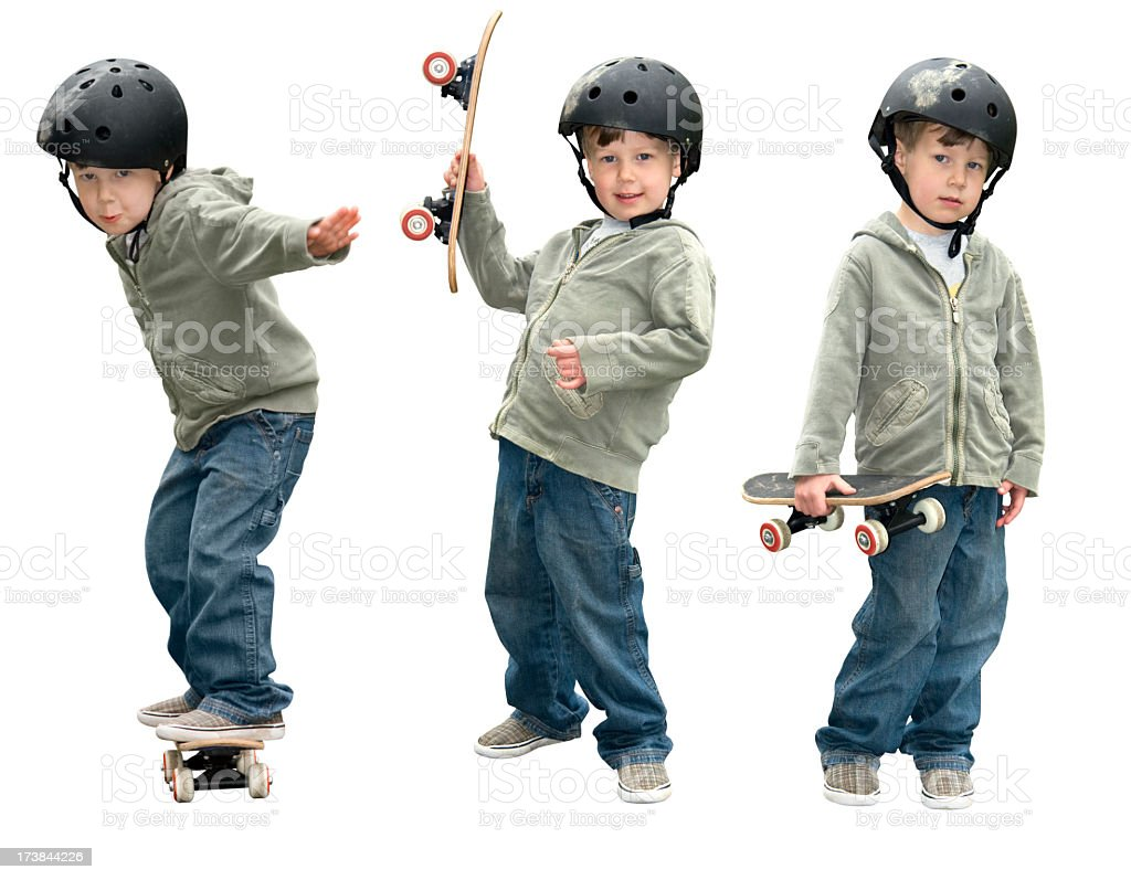 Boy with his Skateboard stock photo