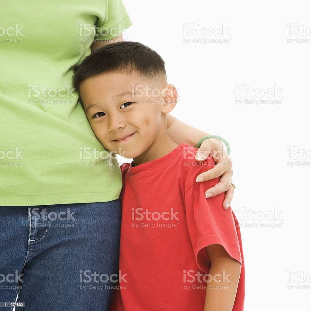 Boy with mother. royalty-free stock photo