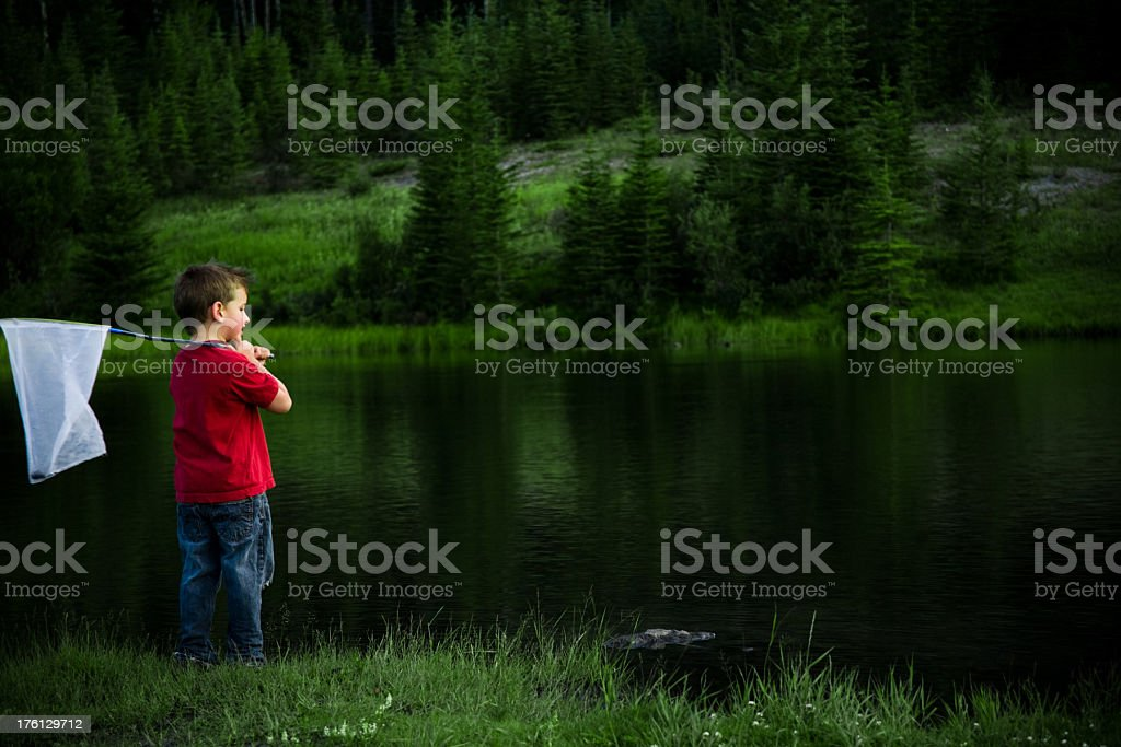 Boy with Net royalty-free stock photo