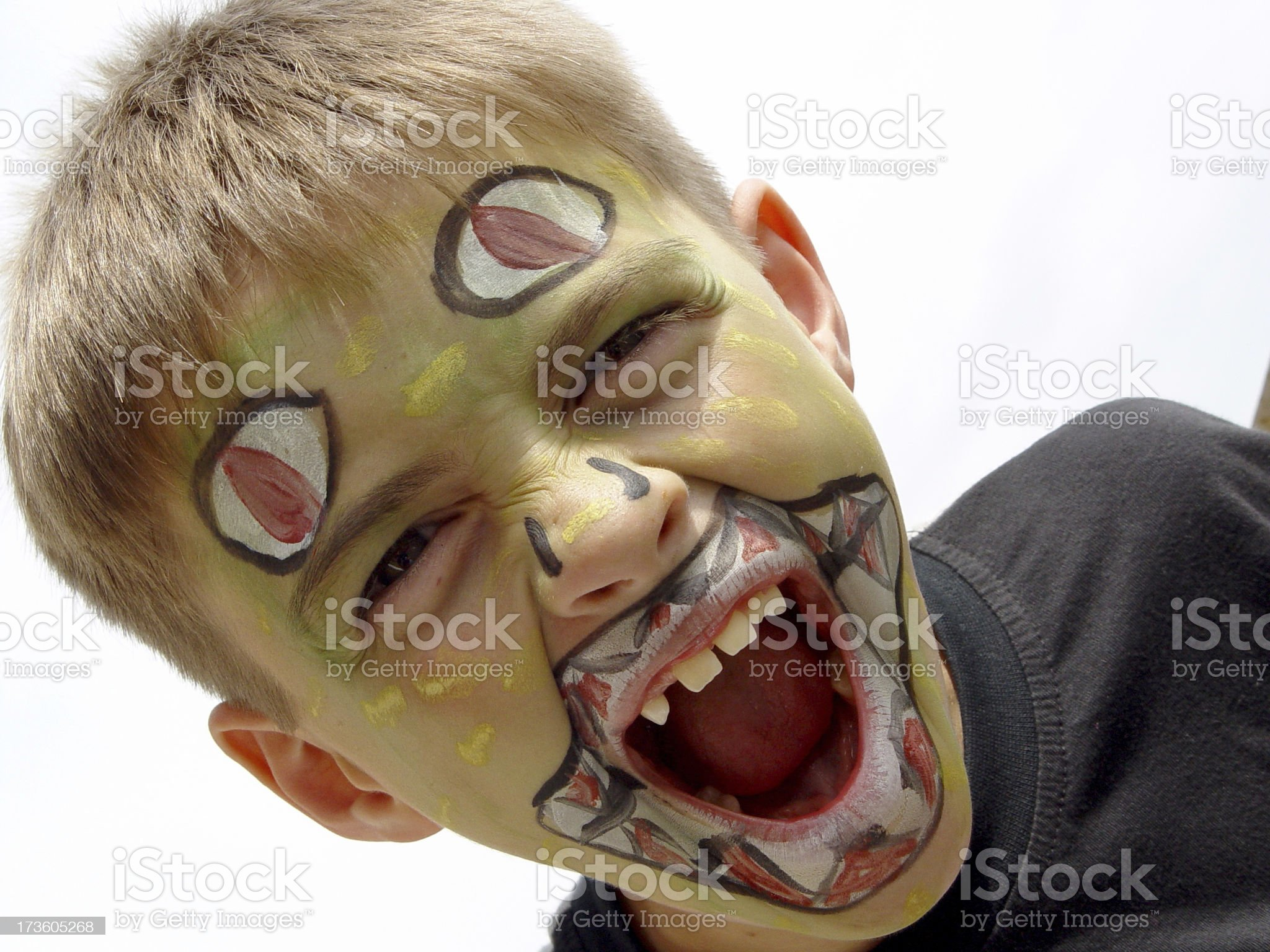 Boy With Painted Face royalty-free stock photo