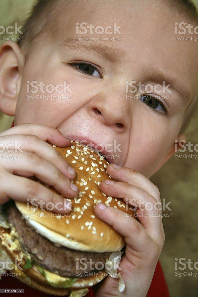 boy with  sandwich royalty-free stock photo