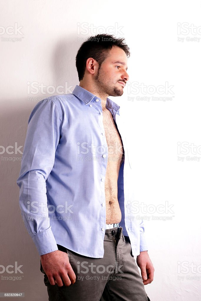 Boy with shirt stock photo
