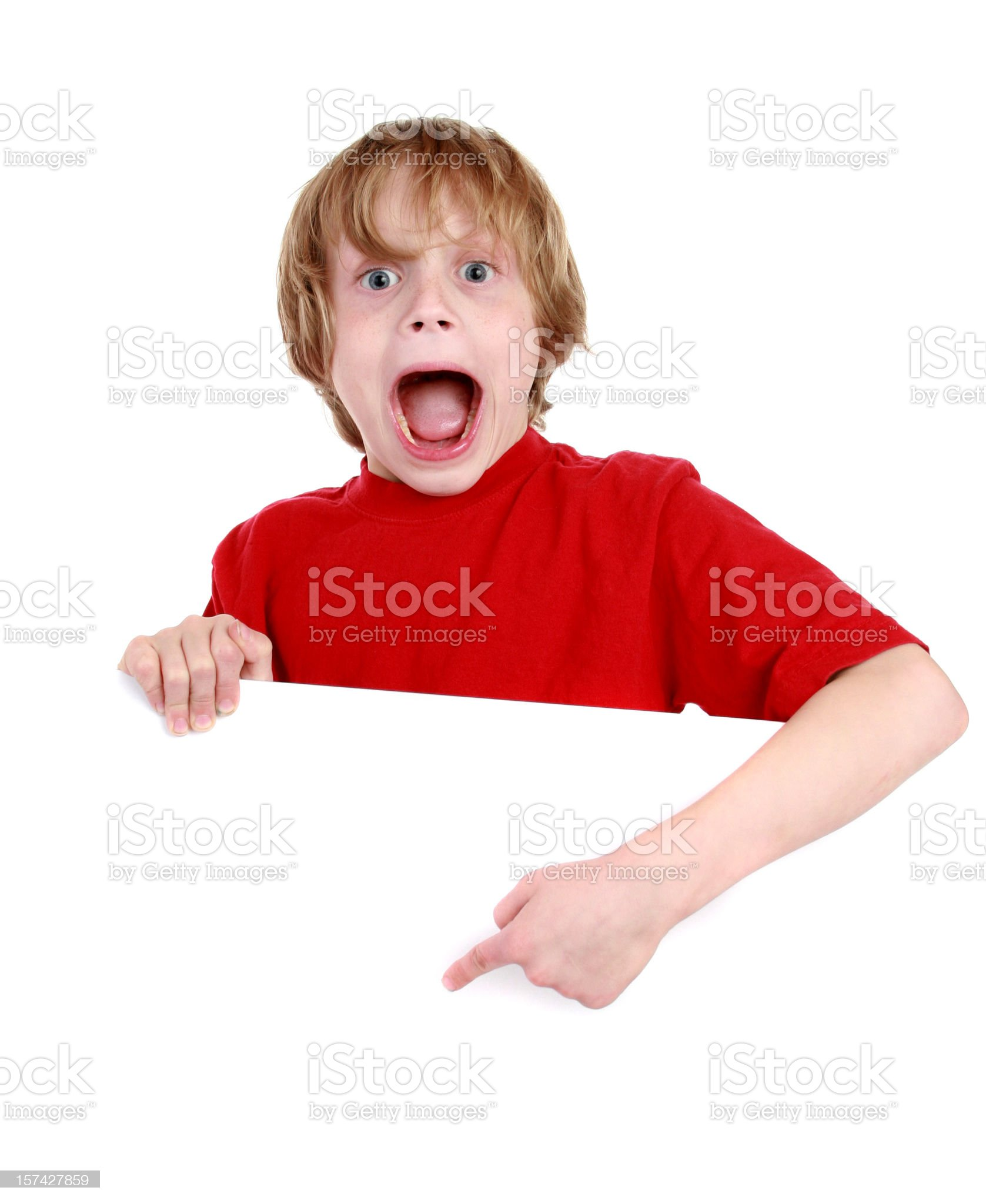 boy with sign royalty-free stock photo